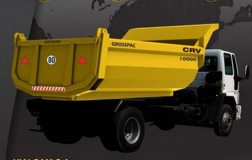 Grosspal presentó la nueva caja volcadora CRV 10000 para camión