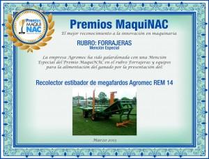 Premio MaquiNAC - Diploma Agromec