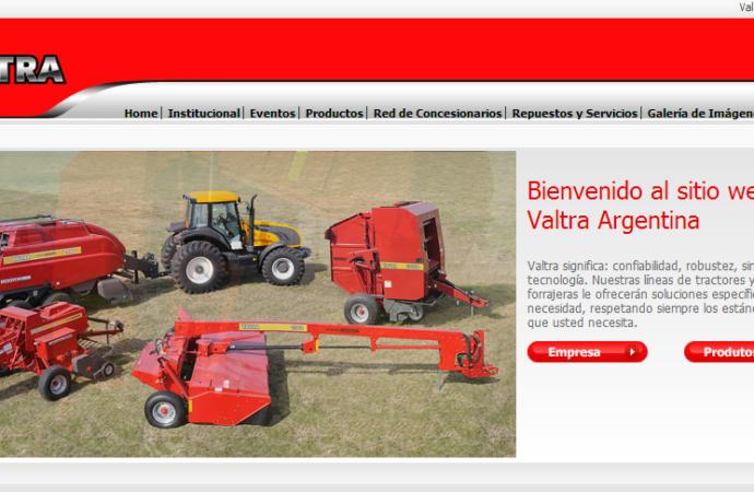 Valtra renovó su sitio web en Argentina