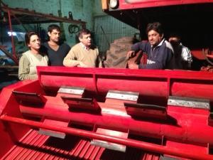 Plataforma para cosechadora de algodon