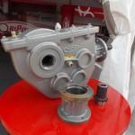 Reductor para cinta dosificadora de fertilizadoras Oripon, con adaptador hidraulico