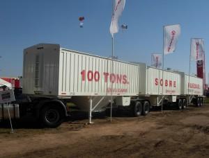 Tren rodante Vulcano de 100 toneladas exportado a Australia