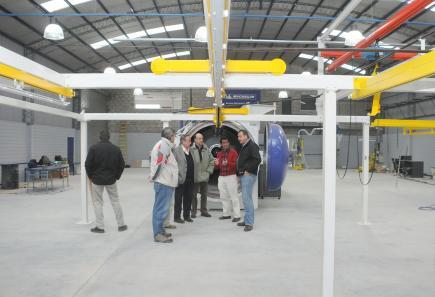 Inauguraron planta de recapado de neumáticos de Michelin
