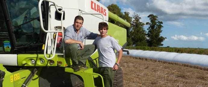 Cuatro generaciones de cosecheros