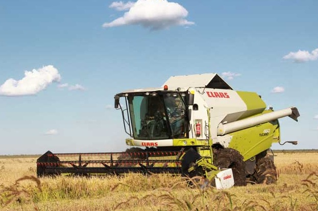 Claas presentó la cosechadora arrocera Tucano 460 R