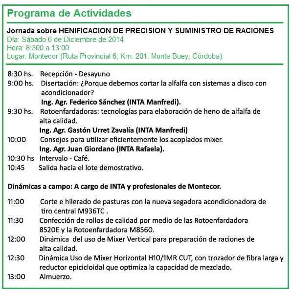 Montecor - Programa de Actividades